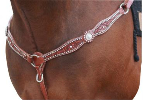 Western Breastplate With Swarovski Crystal & Studs