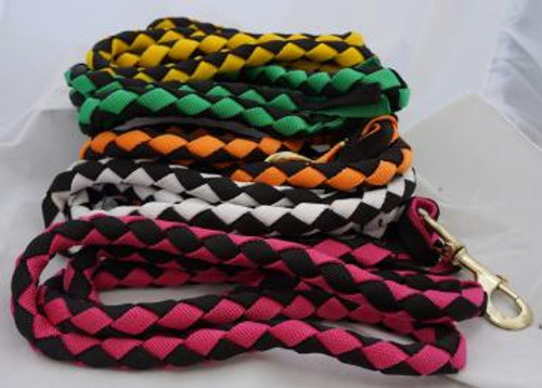 Plaited Two Toned Nylon Lead Ropes