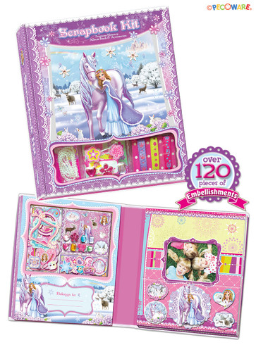Snowflake Princess Make Your Own Scrapbook Kit