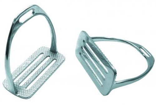 Stirrup Irons 4-Bar Nickel Plated (12CM)