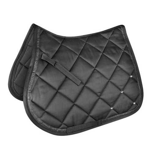 Waldhausen General Purpose Saddle Pad - Black W/Bling