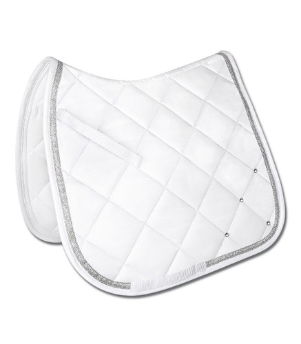 Waldhausen Competition Dressage Saddle Pad - White W/Bling