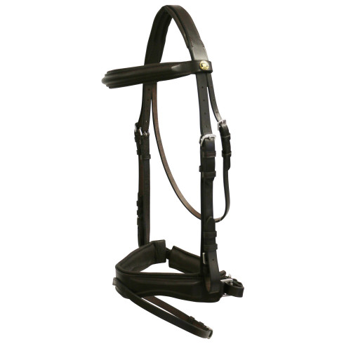 Jeremy & Lord Premier Padded Snaffle Bridle w/Nappa Reins