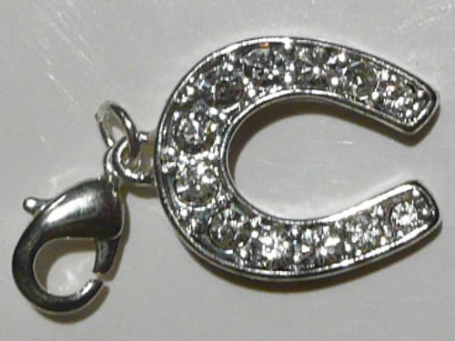 CLEARANCE: Diamonte Horse Shoe Bracelet Charm