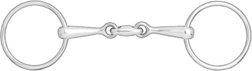 Horze Double Jointed Loose Ring Snaffle Bit
