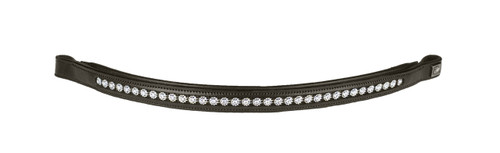 CLEARANCE: Horze Chained Browband (Brown/XL) - 1 ONLY!