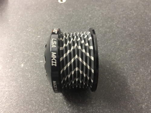 """MKII LS9 Pulley Ø 2.55"""" Black W/GripTec®  V2 (11 Rib Pulley Only)"""