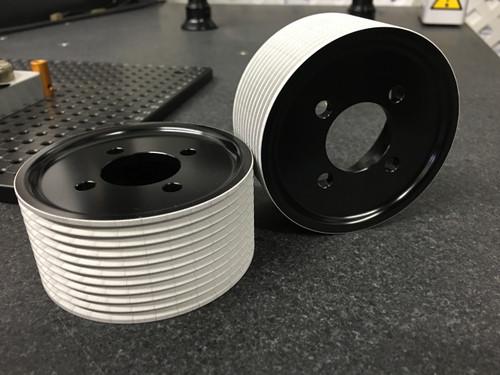 "Magnuson Jack-Shaft MP- TVS Rear 3.25"" Pulleys 1:1 Kit w GripTec™ micro Black Type III Ano"