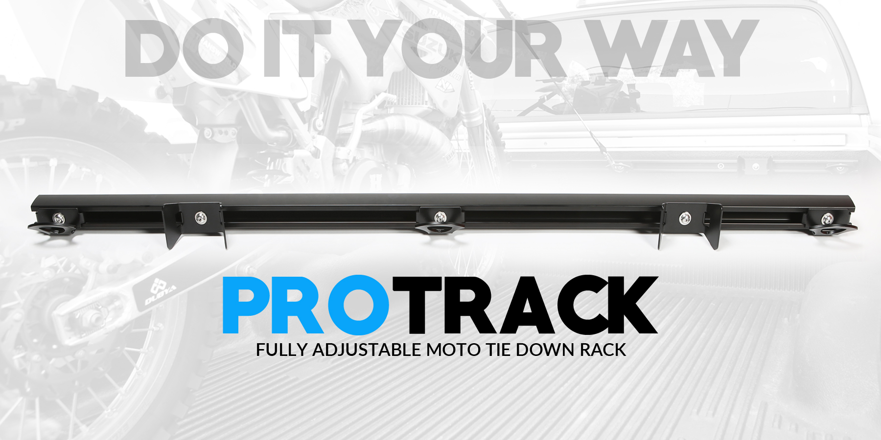 The ProTrack Motorcycle Transport Kit gives you the freedom to haul your stuff your way.