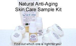 6pc Natural & Organic Anti-Aging Skin Care SAMPLE Kit