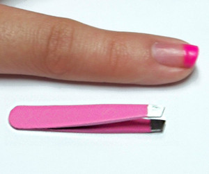 "2"" MINI Pink Stainless Steel Tweezers"