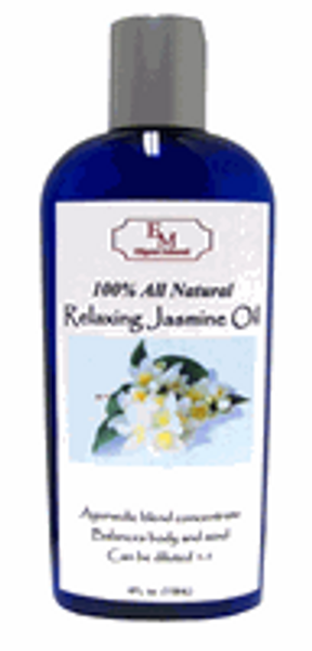 4oz. All Natural Organic Relaxing Jasmine Massage Oil Concentrate