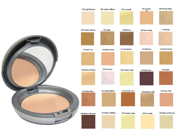 Natural SPF-15 Cream to Powder Mineral Foundation Compact