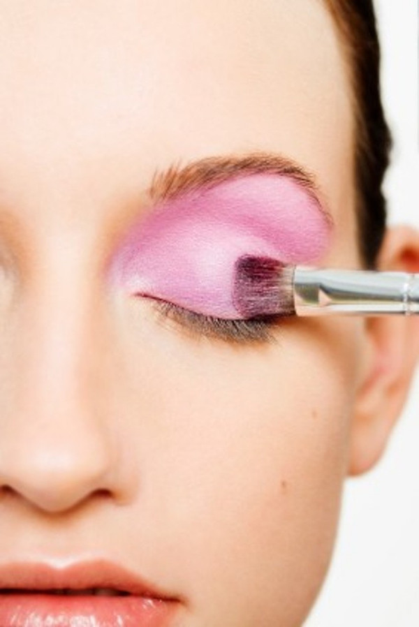 Apply a small amount to lids for a soft yet vibrant look. Or see other pics for more creative designs.