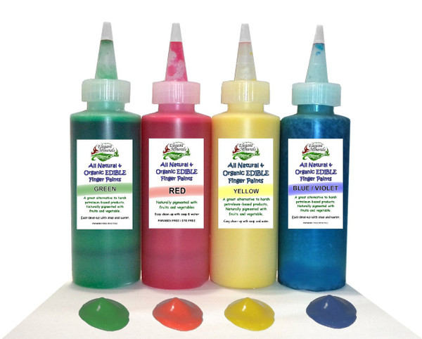All Natural Finger-painting Set for Baby Toddlers, Kids, Children ...