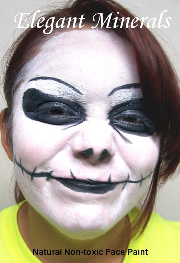 "8pc Natural Face Paint ""Vampire Goth Clown"" Halloween Costume Makeup Kit"