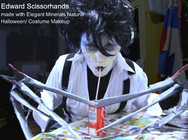 Edward Scissorhands natural costume makeup design.