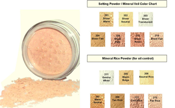 Lightly tinted mineral veils, not sure which color to use? Select the transparent shade.