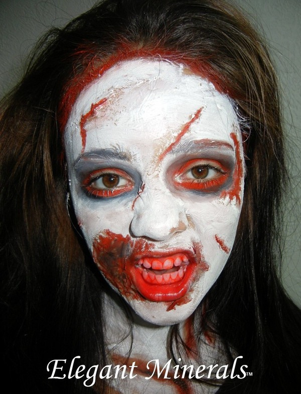 Zombie costumes are more popular than ever. Use elmers glue & tissue paper to create a 3D BITES, cuts, and scratches. Then apply our natural face paint colors to complete your design.
