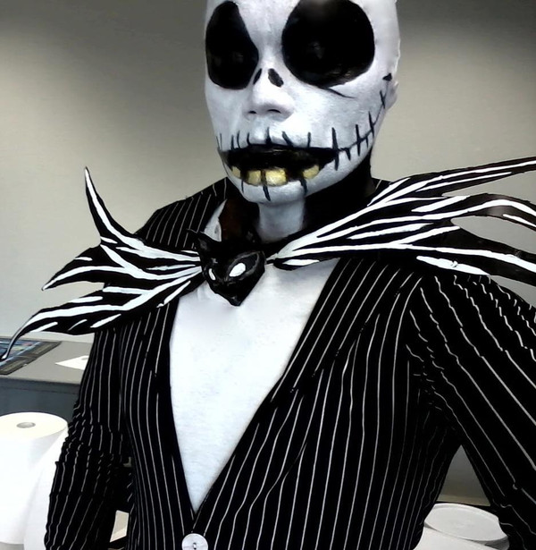 Jack Skellington costume makeup design can be created with Tiger Army Witch.