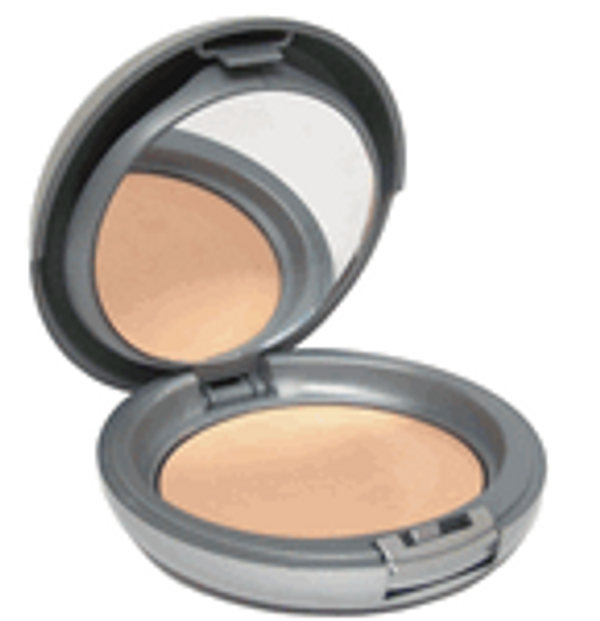 Set of 10x Natural SPF-15 Cream to Powder Mineral Foundation Compact