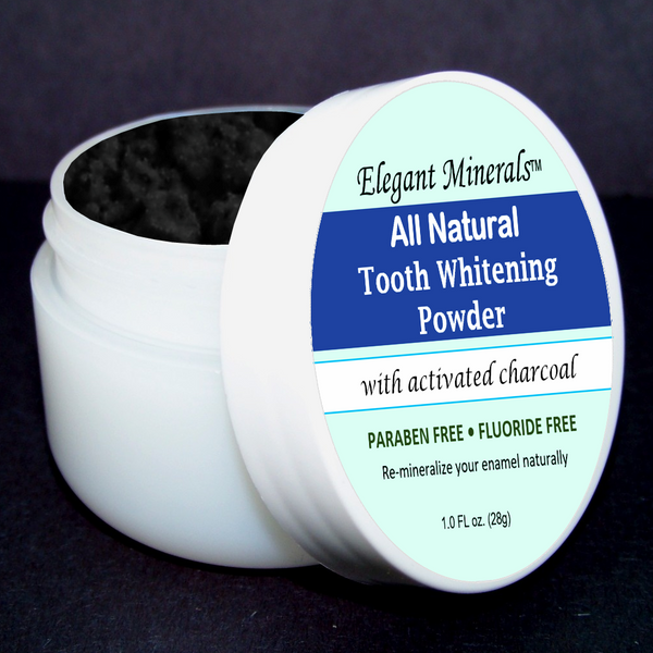 1oz. Activated charcoal powder will remove toxins and odors, while naturally working to whiten teeth.