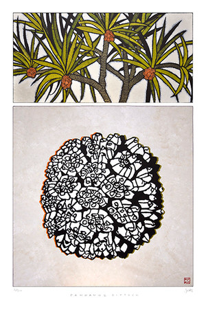 pandan diptych: 605mm x 910mm (printed image size 530mm x 800mm)