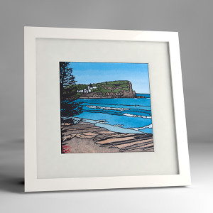 avalon beachl framed print