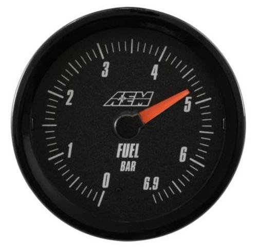 AEM - Analog 6.9Bar Oil/Fuel Pressure Gauge (Metric)
