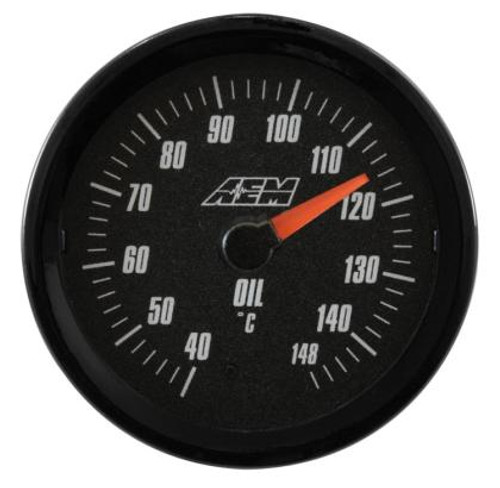 AEM - Analog 40-148C Oil/Water/Trans Temperature Gauge (Metric)