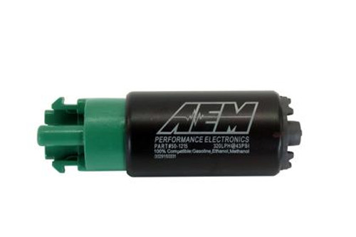 AEM - E85 High Flow In-Tank Fuel Pump (Short Offset Inlet w/ Hooks)