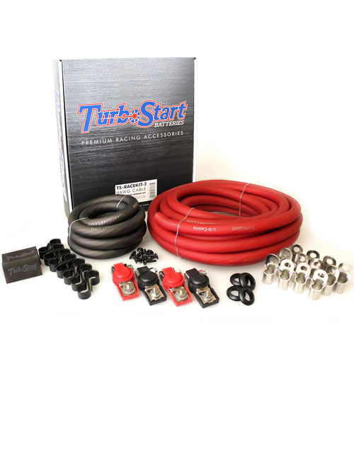 TurboStart - 1/0 AWG Cable Dual Battery Race Kit