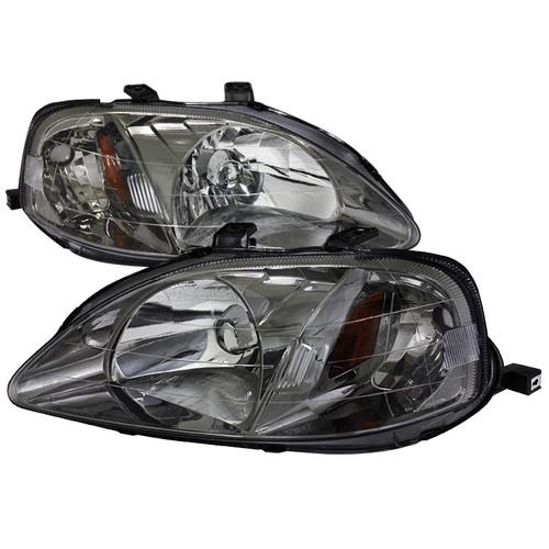 99-00 Honda Civic Gunmetal Headlights