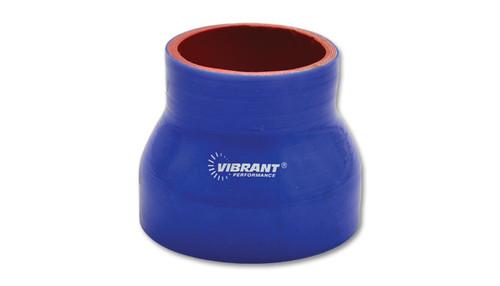 """Vibrant - Reducer Coupler 3"""" Long - Blue"""