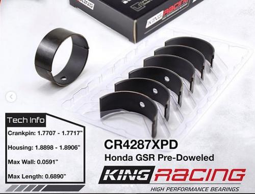 KING - B18C1/B18C5 16V Pre-doweled Performance Rod Bearing Set (Standard Size)