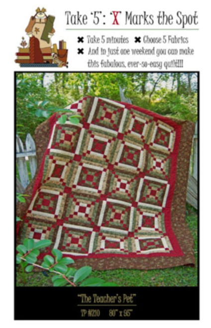 TAKE '40' 'X' MARKS THE SPOT PATTERN FINISHED SIZE 40 X 940 Inspiration Take 5 Quilt Pattern