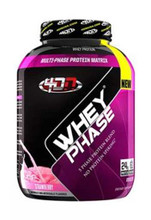 4DN - 4 Dimension Nutrition Whey Phase Protein Powder - Strawberry, 5 Lbs