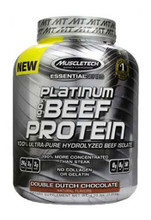 Muscletech Platinum 100% Beef Protein Powder - Double Dutch Chocolate, 4.2 Lbs