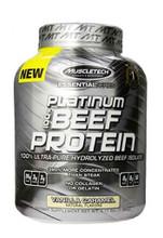 Muscletech Platinum 100% Beef Protein Powder - Vanilla Caramel, 4.2 Lbs