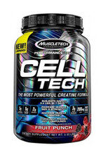 Muscletech Celltech Performance Creatine Powder - Fruit Punch, 3 Lbs