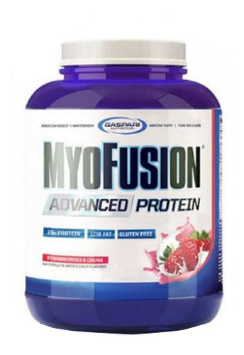 Gaspari Nutrition Myofusion Advanced - Strawberry & Cream, 4 Lbs