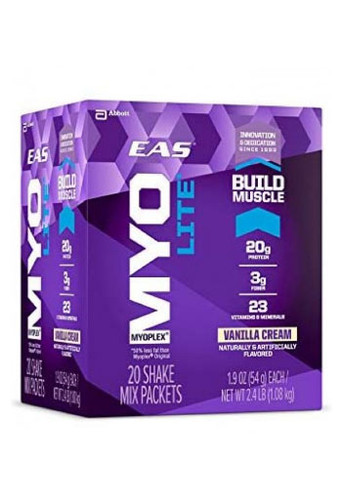 EAS Nutrition Myoplex Lite Protein Shake Mix Packets - Vanilla Cream, (20 Packets)