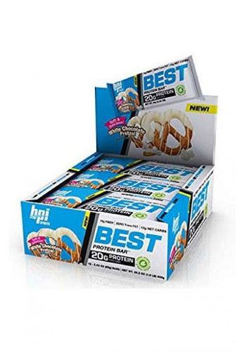 Bpi Sports Best Protein Bar - White Chocolate Pretzel (12 Bars In A Pack)