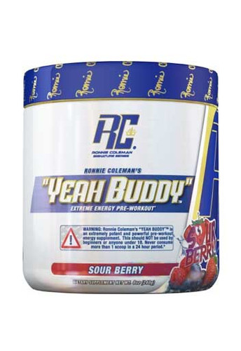 Ronnie Coleman Yeah Buddy Pre Workout Powder - Sour Berry, 240Gm 30 Servings