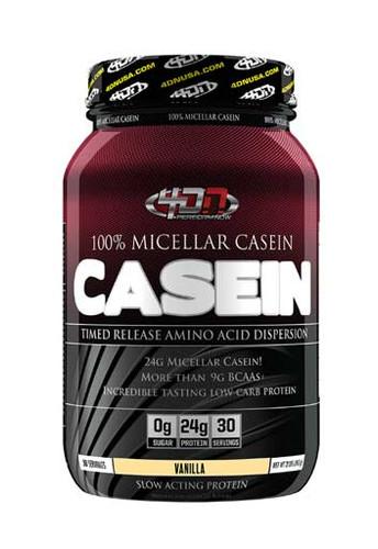 4DN - 4 Dimension Nutrition 100% Casein Protein Powder - Vanilla, 2 Lbs