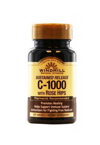 Windmill Vitamin C-1000 Mg. With Rose Hips Sustained Release - 60 Capsules