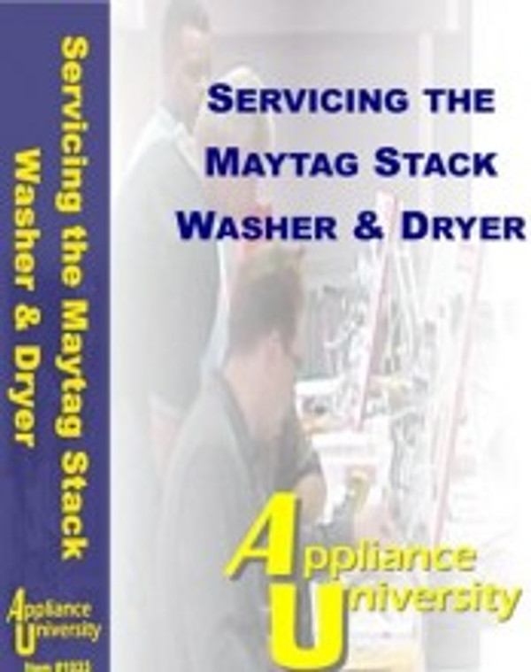 Servicing Maytag Stackable Washer & Dryer