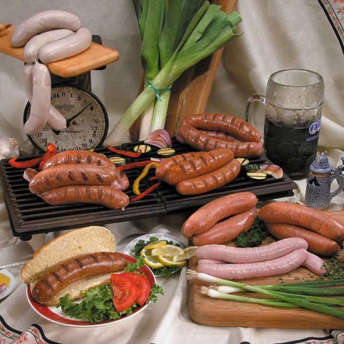 European bratwurst and sausages