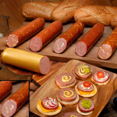 Krakow ham sausage slice and eat. Fully cooked