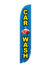 Car Wash Feather Flag Water Drips 12ft